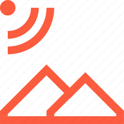 area, connection, coverage, gps, navigation, network, satellite icon