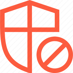ban, block, defense, disabled, network, protection, security icon