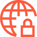 web, www, locked, network, firewall, secured, global, connection icon