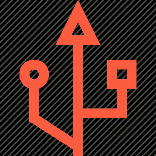 bus, connection, data, hub, port, serial, technology, universal, usb icon