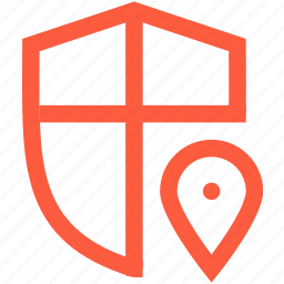 antivirus, location, mark, network, position, protection, security icon