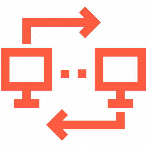 computers, connection, ftp, local, network, sync, synchronization icon