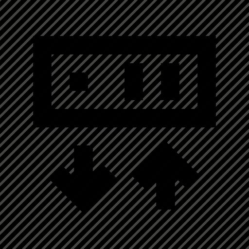 arrows, server connection, server download, server sharing, server upload icon