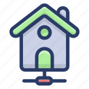 home automation, house protection, shared home, smart home, smart house icon