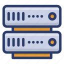 big data, data hosting, data server, data storage, datacenter, dataserver network icon