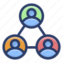 admin, employee network, social network, user communication network, user contact icon