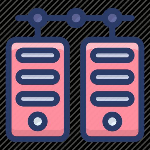 big data, data hosting, data server, data storage, datacenter, dataserver network icon