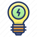 bright idea, creative idea, idea symbol, innovation, light bulb icon
