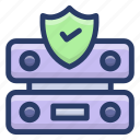 data hosting, data server safety, data storage, datacenter protection, dataserver protection, server protection protection icon