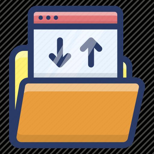 data folder, data sharing, folder data transfer, web data folder, web folder icon