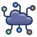 cloud communication network, cloud computing, cloud data, cloud hosting, cloud network icon