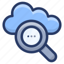 cloud computing, cloud exploration, cloud finding, cloud search, cloud services icon