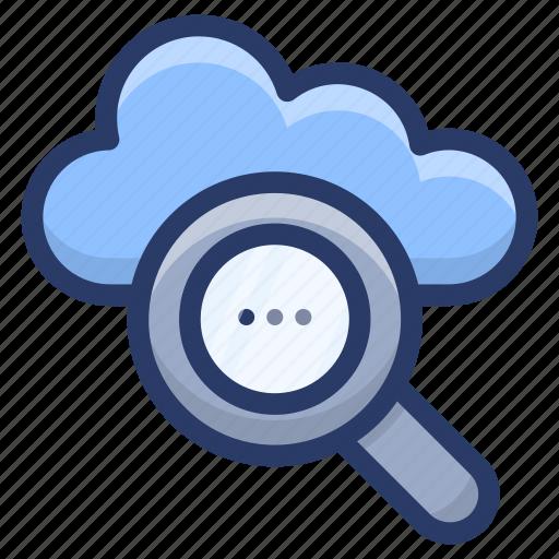 cloud computing, cloud exploration, cloud finding, cloud search, cloud services icon