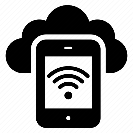 cloud app, connected mobile, internet connection, mobile network, mobile wifi, online cloud device, wireless network icon