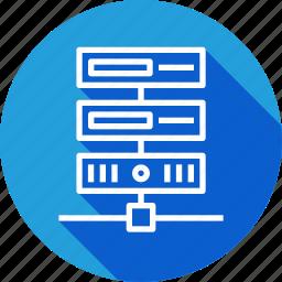 center, data, database, rack, series, server, web icon