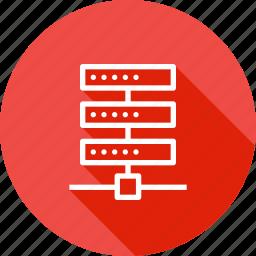 center, database, hosting, rack, series, server, web icon