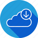 backup, cloud, data, download, downloading, file, ftp icon