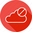 cancel, cloud, connection, data, denied, online, storage icon