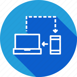 computer, connection, connectivity, internet, mobile, network, synchronization icon