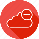 cloud, data, online, remove, server, storage icon