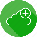 add, backup, cloud, data, file, online, server icon