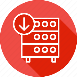 databse, download, hosting, rack, server icon