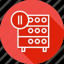 databse, hosting, media, pause, rack, server, video