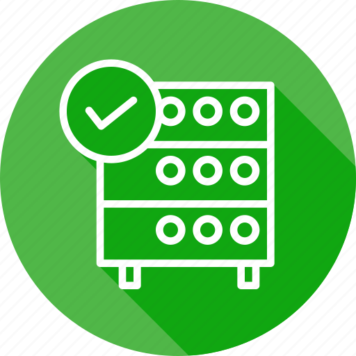 Authenticated, connection, databse, established, hosting, rack, server icon - Download on Iconfinder