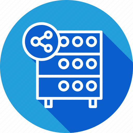 databse, file, hosting, rack, server, sharing, sync icon