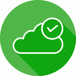 authenticated, cloud, connection, data, online, server, storage icon