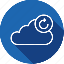 cloud, data, refresh, server, storage, sync, synchronization icon