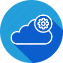 cloud, data, gear, optimization, server, settings, storage icon