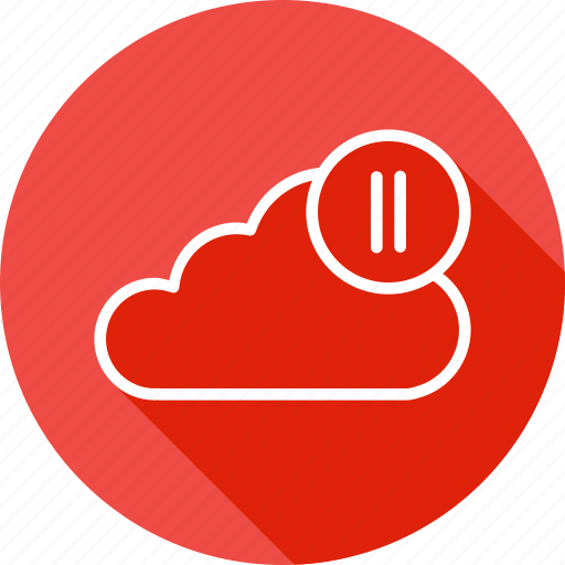 Audio, cloud, media, pause, streaming, video, youtube icon - Download on Iconfinder