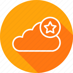 cloud, data, favorite, online, server, star, storage icon