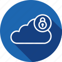 cloud, data, lock, secure, security, server, storage icon