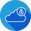 cloud, data, online, security, server, storage, unlock icon