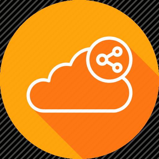 cloud, data, file, server, sharing, storage, sync icon
