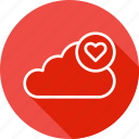 cloud, data, favorite, like, server, storage icon