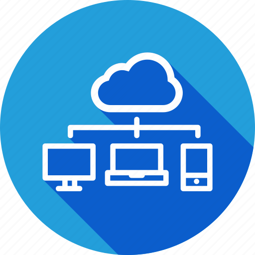 cloud, desktop, laptop, mobile, network, share, sharing icon
