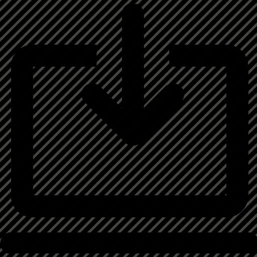 computer, download, storage icon