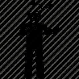 arrow, blunt, head, man, many icon