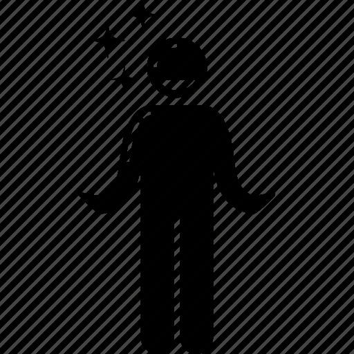 delicate, fragile, man, person, vulnerable icon
