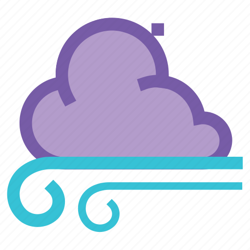 climate, cloudy, forecast, gusts, storm, weather, wind icon