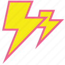 forecast, lightning, rain, storm, thunder, weather icon