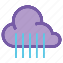 cloud, forecast, rain, raining, rainy, umbrella, weather icon