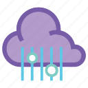 forecast, hail, mix, rain, rainy, sleet, weather icon