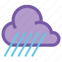 cloudy, forecast, rain, raining, umbrella, weather, wind icon