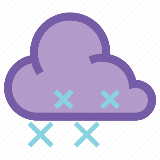 cloud, forecast, snow, snowflake, weather, wind, winter icon