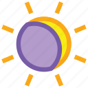 eclipse, forecast, moon, solar, sun, weather icon