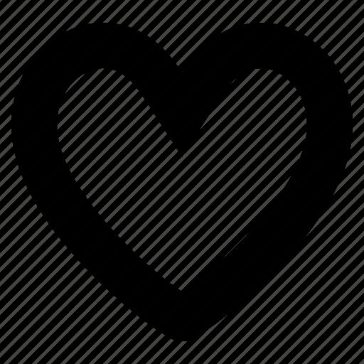 empty, favorite, guardar, heart, like, love, save icon